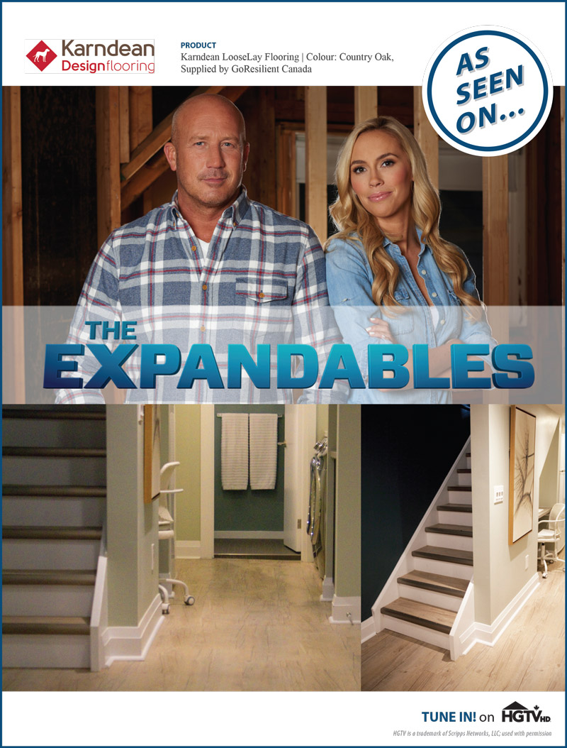 Karndean Designflooring once again features on HGTV's The Expandables