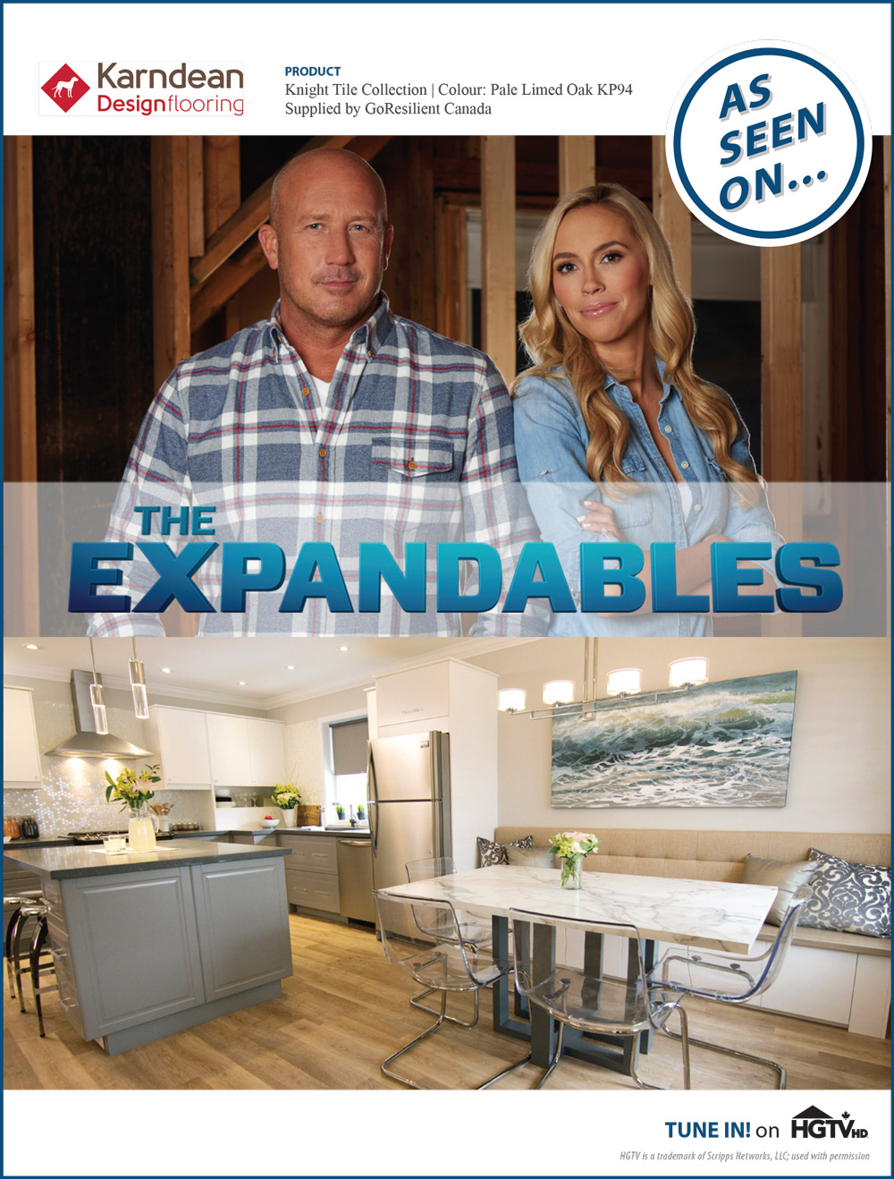 Karndean Designflooring features on HGTV's The Expandables